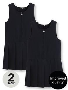 v-by-very-schoolwearnbspgirls-pleated-pinafore-school-dresses-navy-2-pack