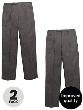 v-by-very-schoolwear-boys-2-pack-zip-front-trousers-grey