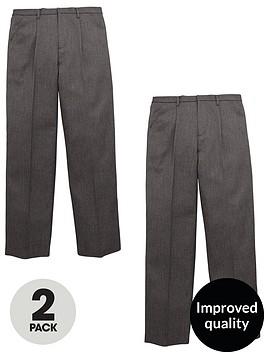 v-by-very-schoolwearnbspboys-pull-on-school-trousers-grey-2-pack