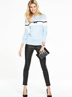 v-by-very-colourblock-bow-detail-jumper