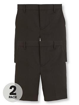 v-by-very-boys-2-pack-teflon-school-shorts-black