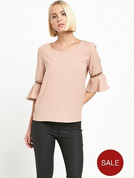 river-island-pink-umbrella-sleeve-top