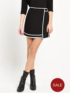 river-island-plain-sports-skirt-black