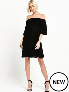 river-island-velvet-bardot-dress