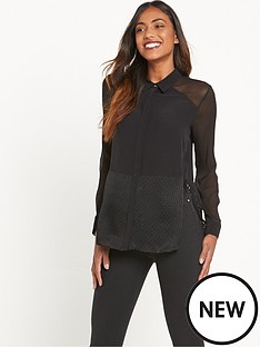 river-island-long-sleeve-hybrid-shirt