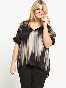 ri-plus-stripe-cold-shoulder-top-black