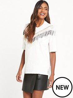 river-island-river-island-short-sleeve-jumbo-tee-with-tassle-detail