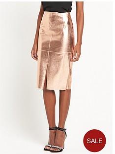 river-island-metallic-pu-skirt