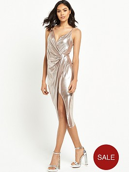 river-island-metallic-strappy-wrap-dress