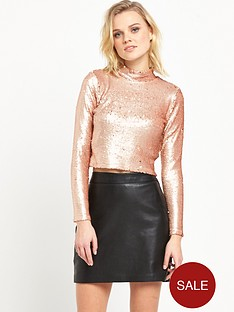 river-island-sequin-t-shirt-gold