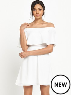 river-island-ivory-bardot-dress