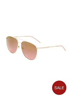 ted-baker-leather-trim-aviator-sunglasses