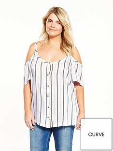 junarose-curve-cold-shoulder-stripe-top