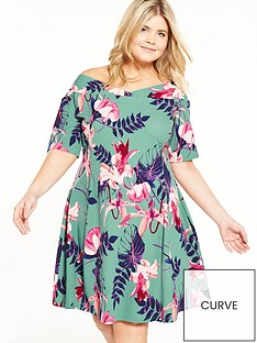 junarose-curve-floral-skater-dress
