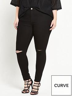 alice-you-ripped-knee-skinny-jean-black