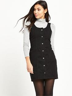 glamorous-button-up-pinaforenbspdress-black