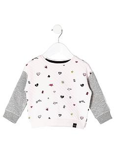 river-island-mini-mini-girls-pink-doodle-sweatshirt