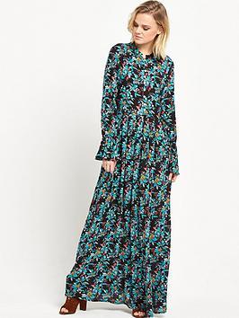 Glamorous Floral High Neck Maxi Dress
