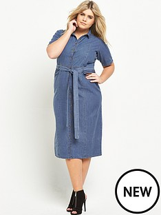 lost-ink-curve-denim-dress