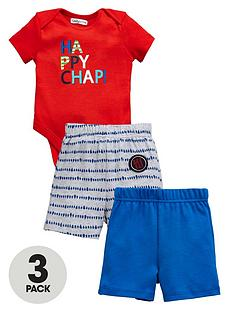 ladybird-baby-boysnbsp3pcnbspbodysuit-and-shorts-set