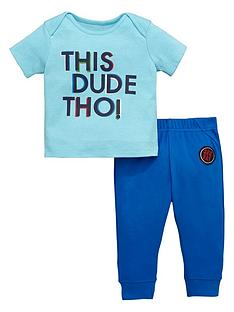 ladybird-baby-boys-this-dude-tee-and-jogger-set