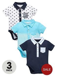 ladybird-baby-boys-3-pk-polo-bodysuits