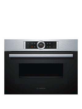 Bosch   Serie 8 Cmg633Bs1B 60Cm Built-In Combination Microwave Oven &Ndash; Stainless Steel