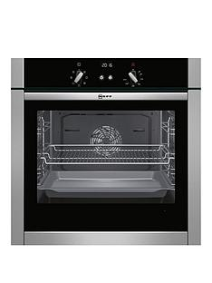 neff-b44m42n5gb-60cm-built-in-slide-and-hide-single-oven-stainless-steel