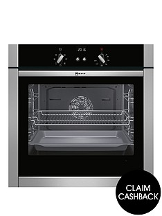 neff-b44m42n5gb-60cm-built-in-slideamphidereg-single-oven-with-circothermregnbsp--stainless-steel