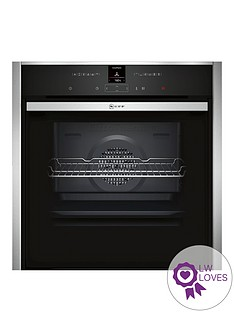 neff-b57cr22n1b-60cmnbspslideamphidereg-single-electric-oven-with-pyrolyticnbspself-cleaning-cyclenbsp--stainless-steel