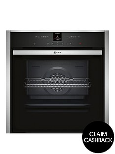 neff-b57cr22n1b-60cmnbspslideamphidereg-single-electric-oven-with-pyrolyticnbspself-cleaning-cyclenbsp--stainless-steelnbsp