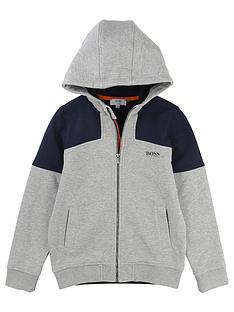 boss-pique-hooded-zip-thru