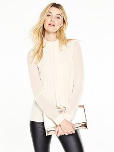 v-by-very-bow-high-neck-blouse