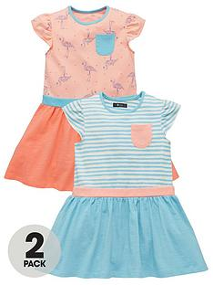 mini-v-by-very-toddler-girls-2pk-jersey-flamingo-dresses