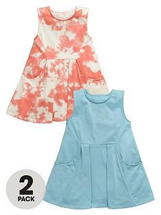 mini-v-by-very-girls-2pk-plain-amp-tie-dye-summer-dress