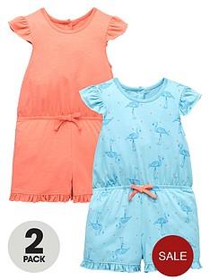 mini-v-by-very-girls-2pk-frill-shoulder-flamingo-playsuits