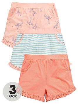 Mini V By Very Toddler Girls 3Pk Flamingo Shorts