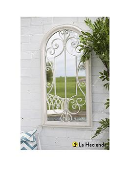 La Hacienda Scroll Arch Garden Mirror