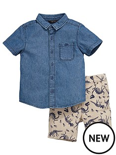 mini-v-by-very-toddler-boys-denim-shirt-and-printed-shorts-set-2-piece
