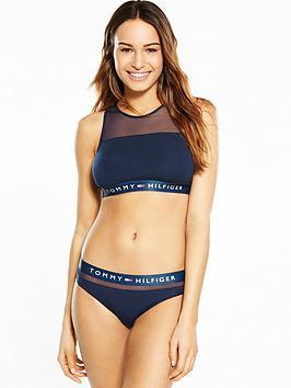 Tommy Hilfiger Mesh Insert Bikini Bralette  Navy