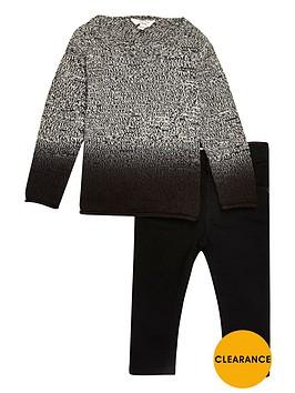 river-island-mini-boys-grey-dip-dye-knit-jumper-and-jeans-set