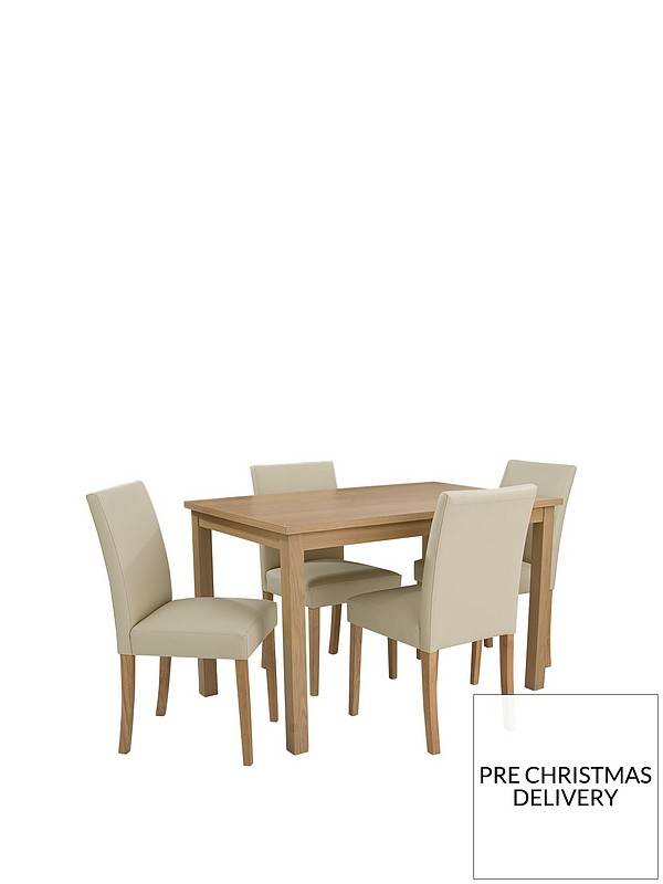 Stupendous Primo 120 Cm Dining Table 4 Faux Leather Chairs Gamerscity Chair Design For Home Gamerscityorg