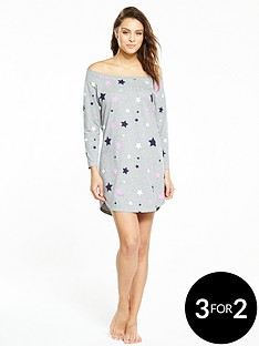 v-by-very-star-print-nightdress