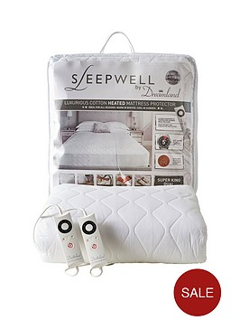 Dreamland Sleepwell Intelliheat Electric Cotton Mattress Cover Sb Dual Littlewoods