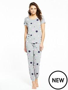 v-by-very-star-print-pyjama-set