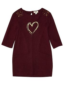 river-island-mini-girls-red-metallic-print-jumper-dress