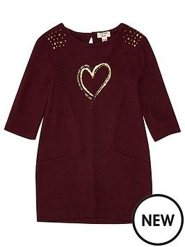 river-island-mini-girls-red-metallic-print-jumper-dress