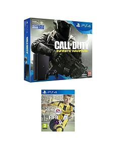 playstation-4-slim-500gb-console-with-call-of-duty-infinite-warfare-and-fifa-17-plus-optional-extra-controller-andor-12-months-playstation-network