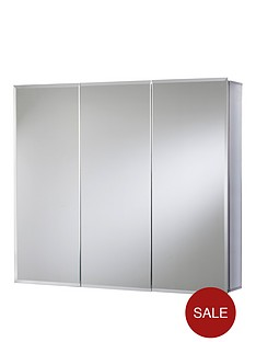 croydex-westbourne-triple-door-tri-view-white-steel-bathroom-cabinet