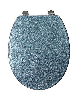 Croydex Glitter Toilet Seat In Blue